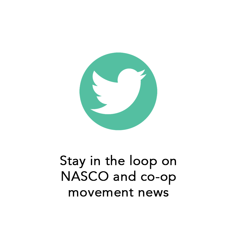 Follow us on Twitter for NASCO and co-op movement news